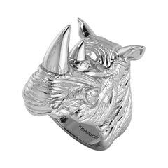 Sterling Silver Rhino Ring