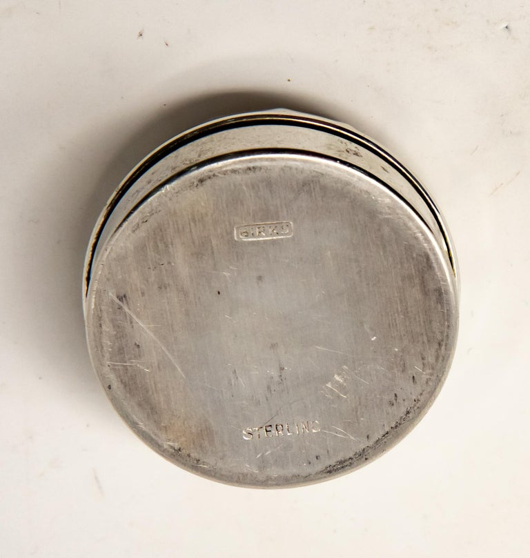 Sterling Silver Ring Box In Fair Condition For Sale In Cookeville, TN