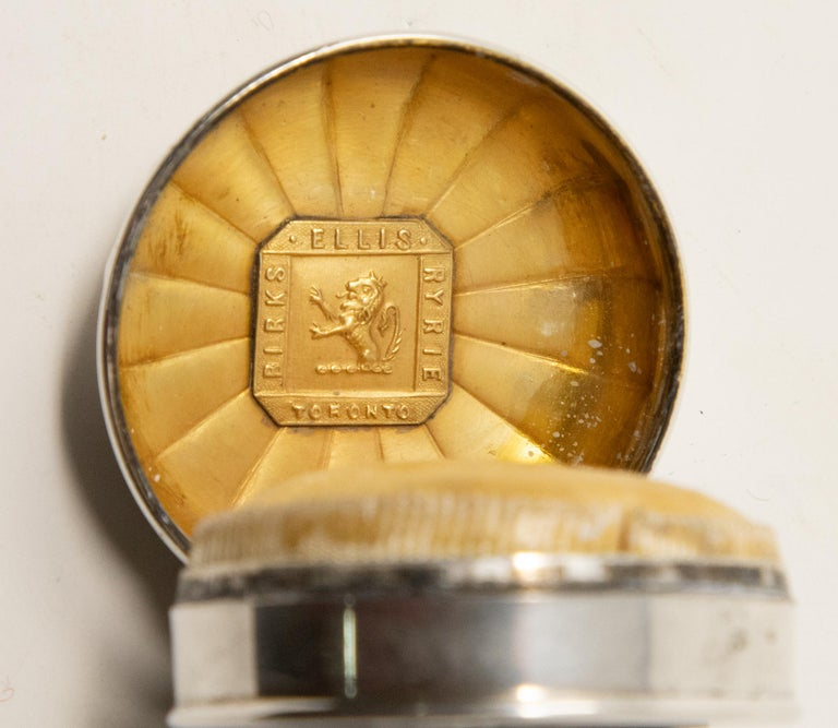 20th Century Sterling Silver Ring Box For Sale