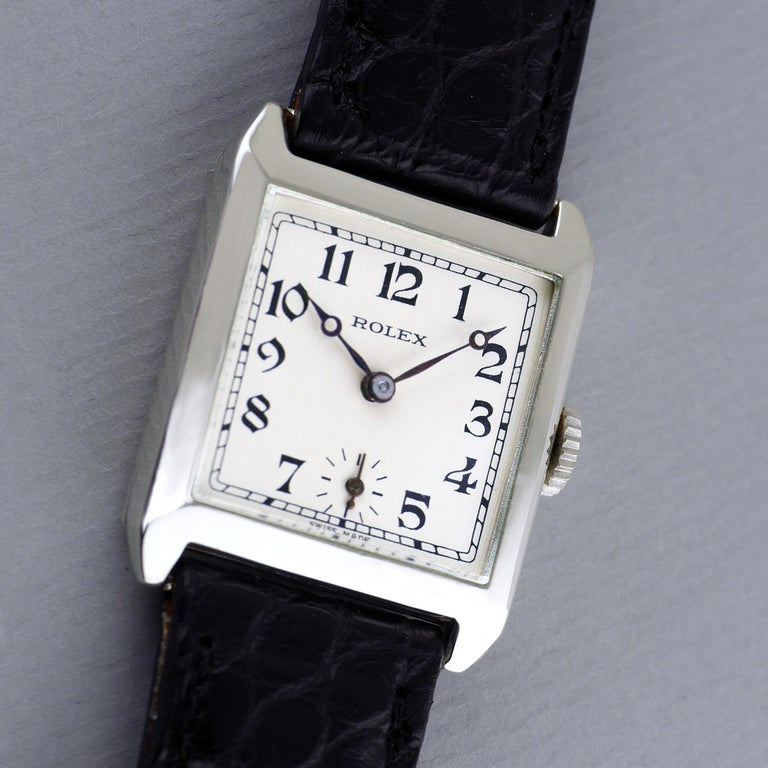 Sterling Silver Rolex, Art Deco, 1926 For Sale 1