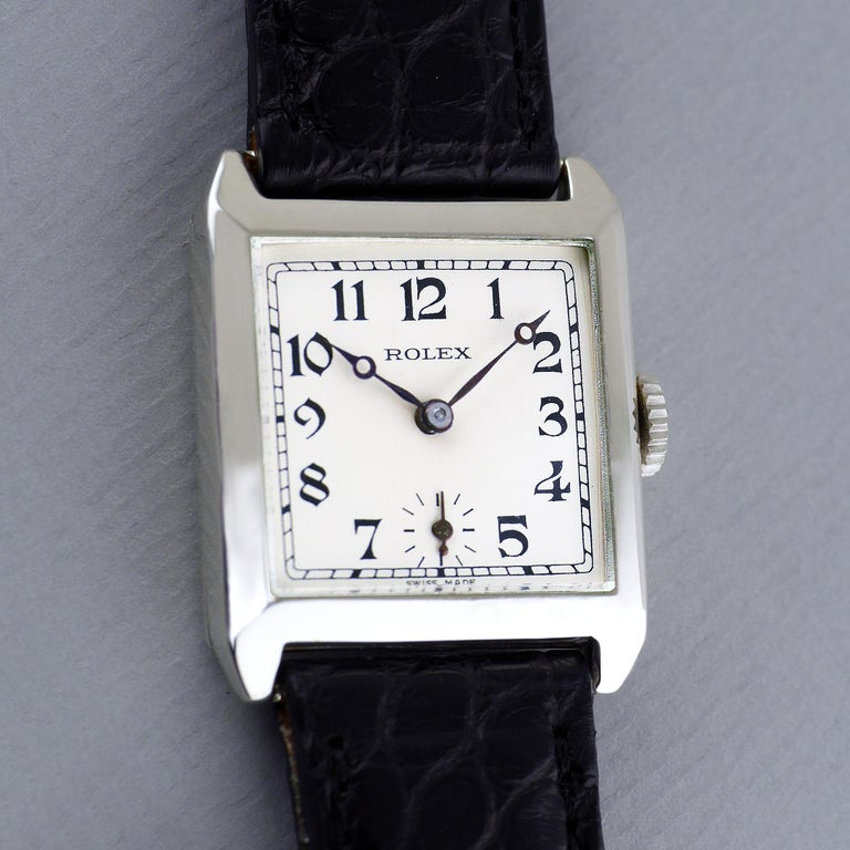 Sterling Silver Rolex, Art Deco, 1926 For Sale 4