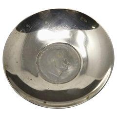 Sterling Silver Romania Coin Dish