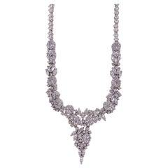 Sterling Silver Russian Cut CZ Romantic Necklace