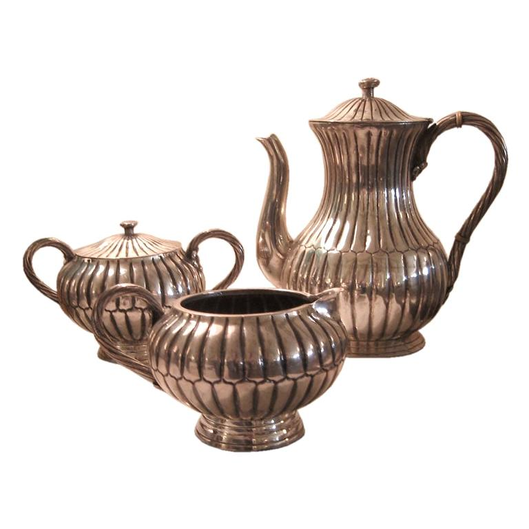 Sterling Silver Sanborn Mid-Century Modern Tea or Coffee Service For Sale