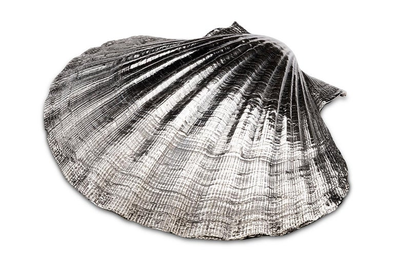 European Sterling Silver Scallop Dish For Sale
