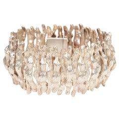 Sterling Silver Sculptural Cuff Bracelet