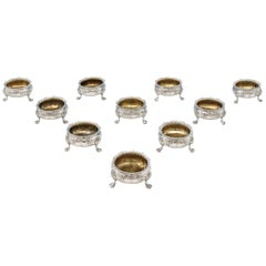 Sterling Silver Set of 10 Salt Cellars