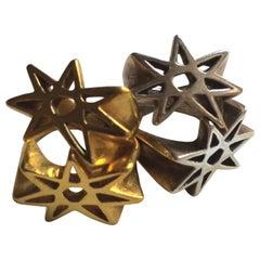 Sterling Silver Seven Pointed Star Ring Vitriol
