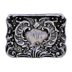 Sterling Silver Snuff or Trinket Box