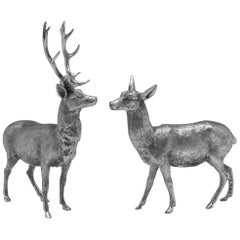 Sterling Silver Stag and Doe