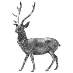 Sterling Silver Model of a Stag Hallmarked in London in 1971