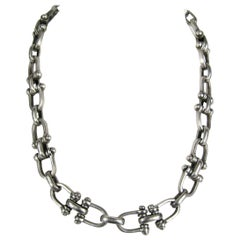 Sterling Silver Taxco Vintage Link Necklace 1970s