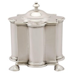 Sterling Silver Tea Caddy, Antique George V, '1911'