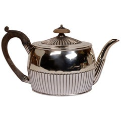 Sterling Silver Tea Pot by William Plummer, London, circa 1797