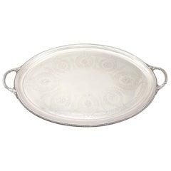 Sterling Silver Tea Tray by Walter & John Barnard Antique Victorian