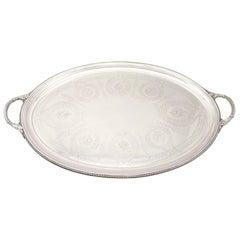 Sterling Silver Tea Tray by Walter & John Barnard Antique, Victorian