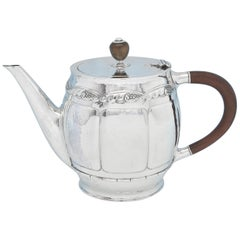 Arts & Crafts Antique Sterling Silver Teapot by Liberty & Co. 1914