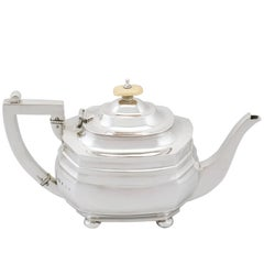 1917 Antique Sterling Silver Teapot