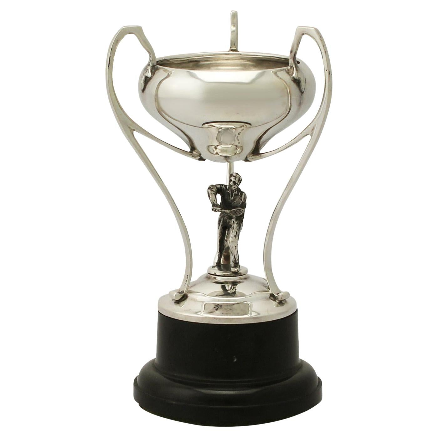 Sterling Silver 'Tennis' Presentation Trophy, Vintage George VI