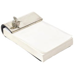 Sterling Silver Thistle and Bee, London Note Pad Desk Accessory