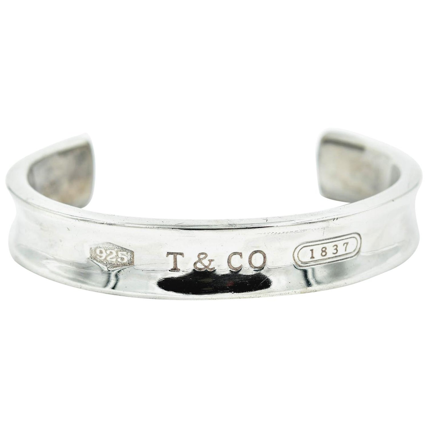 "149dfb7a1 Sterling Silver Tiffany and Co. ""1837"" Cuff Bracelet, 44.6 Grams at 1stdibs"