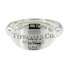 "Sterling Silver Tiffany & Co. ""Return to Tiffany"" Band Ring"