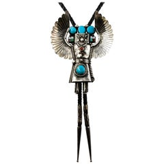 Sterling Silver Turquoise Eagle Kachina Bolo