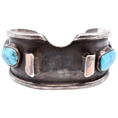 Sterling Silver Turquoise Watch Cuff