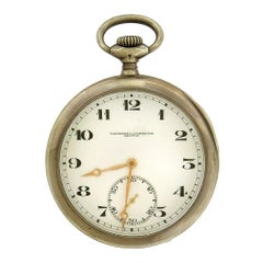 Sterling Silver Vacheron and Constantin Open Face Pocket Watch