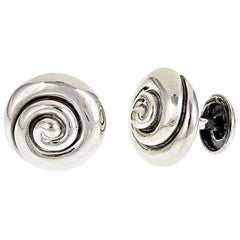 Sterling Silver Whirlpool Cufflinks by John Landrum Bryant