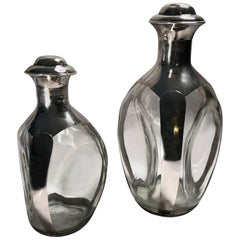 Sterling Silver Whisky Dimpled Decanters by Haig & Haig of Scotland