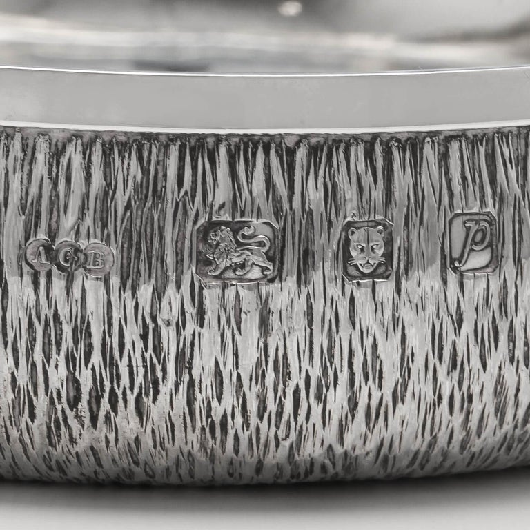 English Mid-Century Modern Sterling Silver Wine Coaster by Gerald Benney For Sale