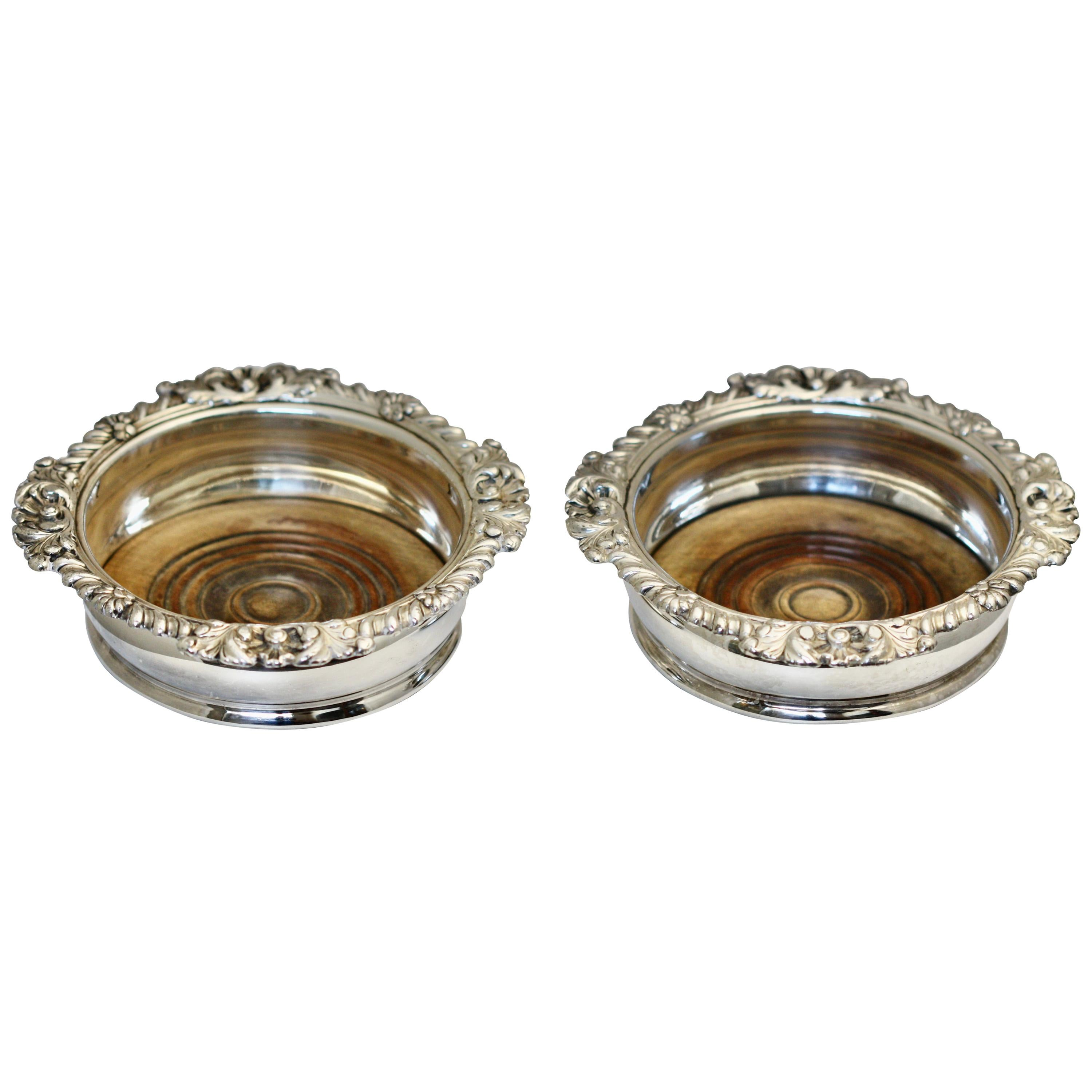 Sterling Silver Wine Coasters English, London, 1810