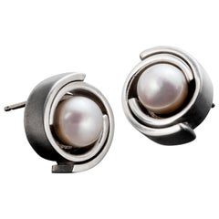 Sterling Silver with Akoya Pearl Stud