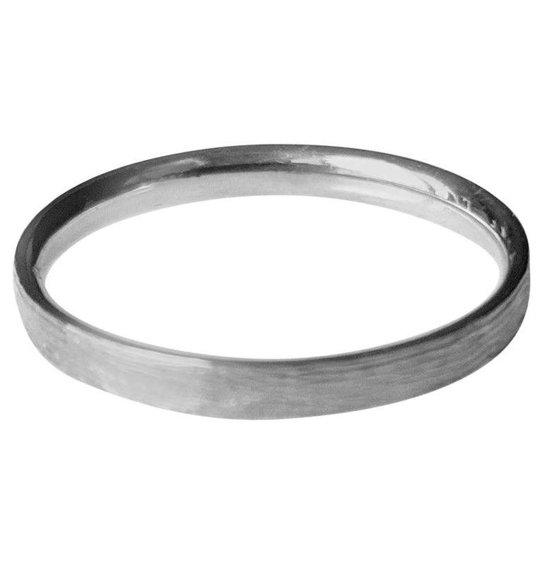 Sterling Silver Wood Contemporary Men Ring For Sale