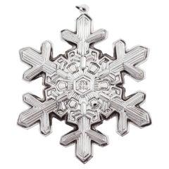 Sterling Snowflake Christmas Ornament