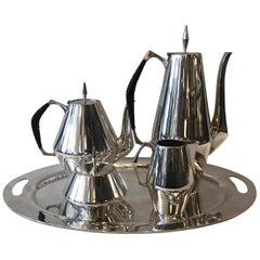 Sterling Tea Service Designed by Gio Ponti for Reed and Barton