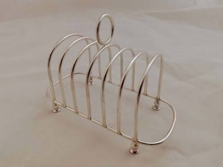 International Style Sterling Toast Rack For Sale