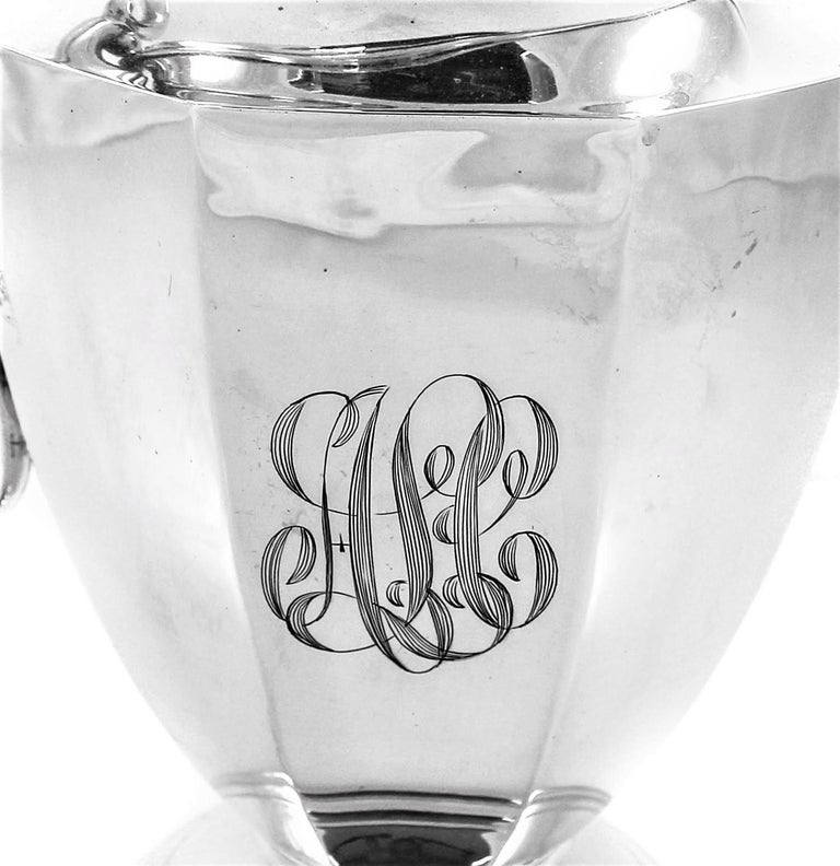 Sterling Water Pitcher In Excellent Condition For Sale In Brooklyn, NY
