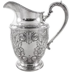 Sterling Water Pitcher, Talisman Rose