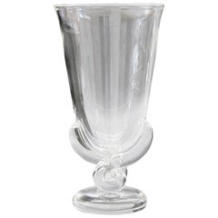 Steuben Art Deco Glass Flower Shaped Vase by George Thompson, circa 1942