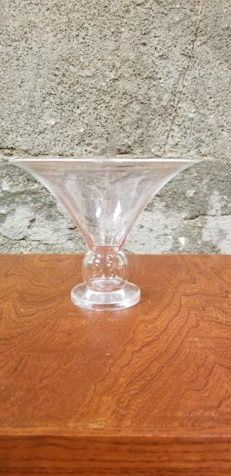 American Steuben Crystal Trumpet Vase For Sale