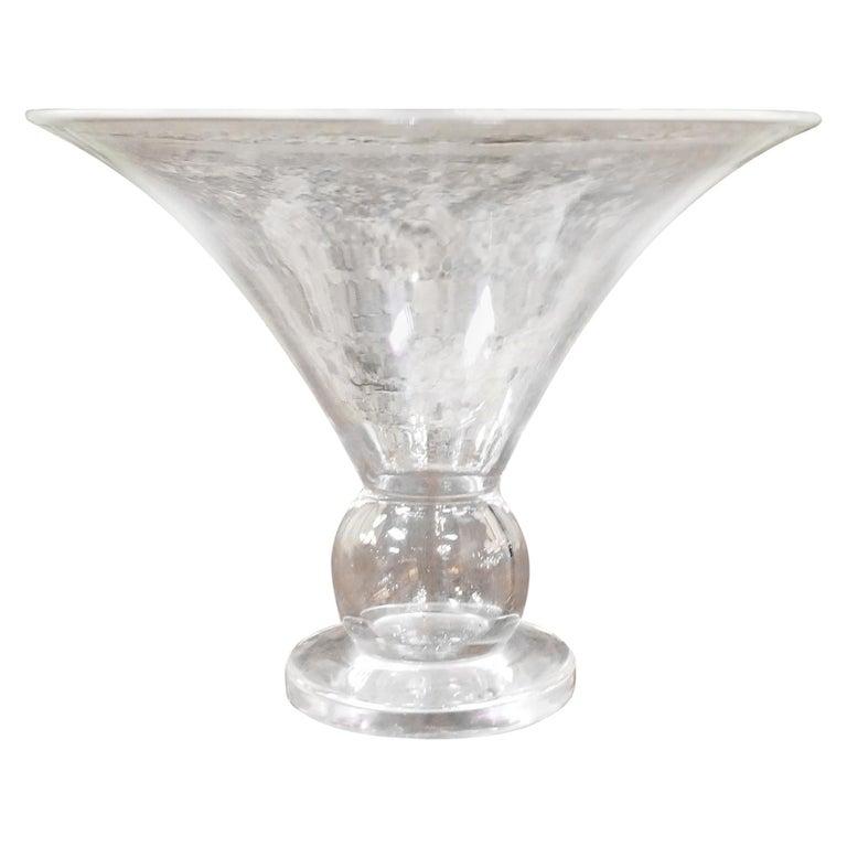 Steuben Crystal Trumpet Vase For Sale