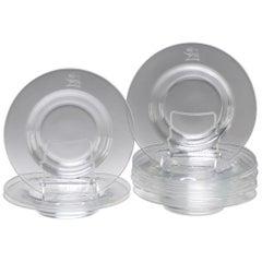 Steuben Glass Engraved Lion Bowls-set of  10--MCM- Provenance