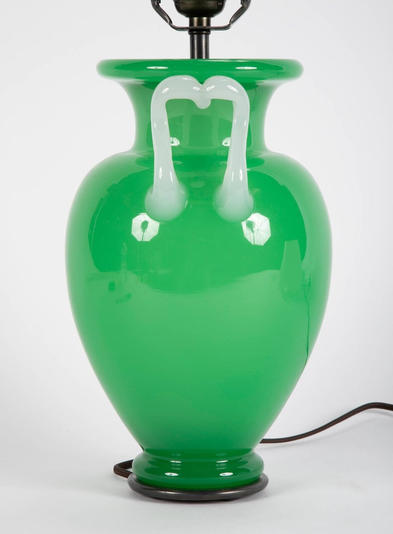 Steuben Glass Vase Now as Table Lamp For Sale 3