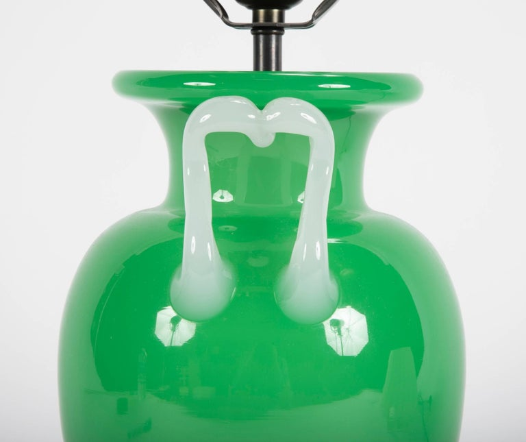 Steuben Glass Vase Now as Table Lamp For Sale 4