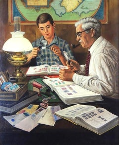 The Stamp Collector, Saturday Evening Post Cover
