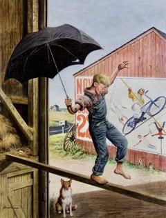 Walking the Tightrope, Saturday Evening Post Cover