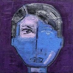 Paris Portrait: Gus, Painting, Acrylic on Canvas