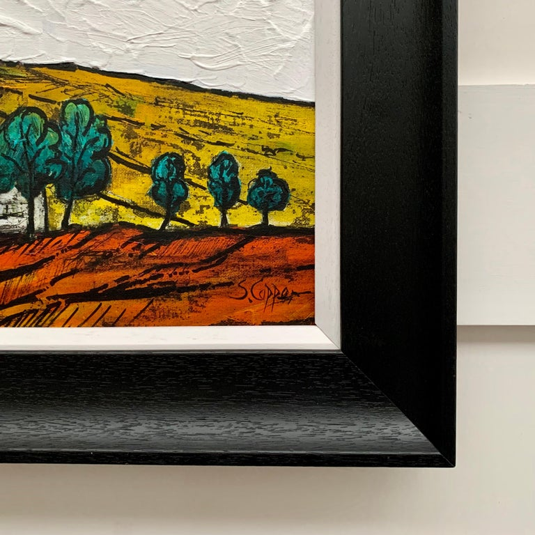 Colourful Abstract Landscape Painting of English Countryside by British Artist 2